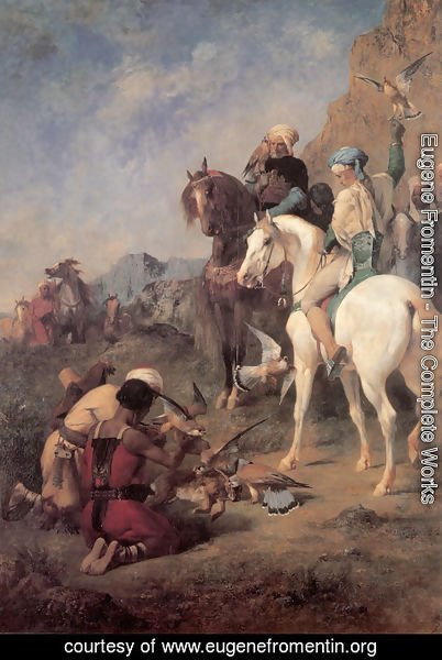 Eugene Fromentin - Falcon Hunting in Algeria (or The Quarry)