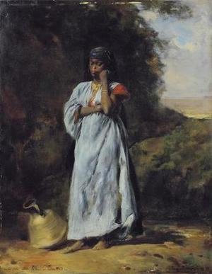 Eugene Fromentin - Young Woman by the Nile (Jeune femme devant le Nil)