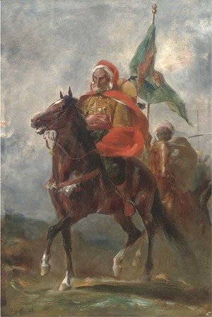 Eugene Fromentin - An Orientalist chieftain on horseback