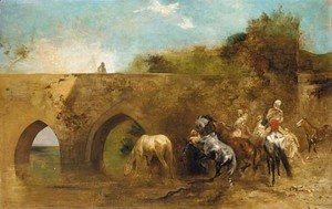 Eugene Fromentin - Bedouins watering their horses