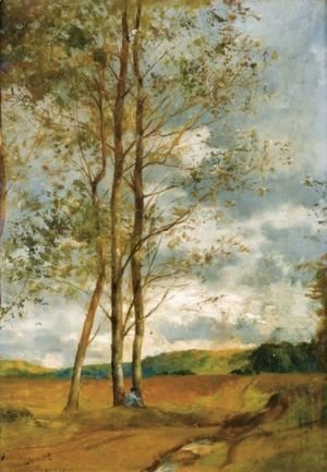 Eugene Fromentin - Birch In Montoire, Near Blois