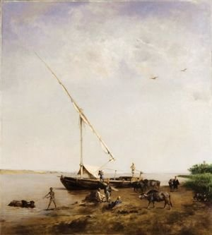 Eugene Fromentin - Boat On The Nile