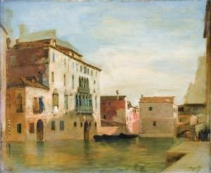 Eugene Fromentin - View Of A Canal In Venice