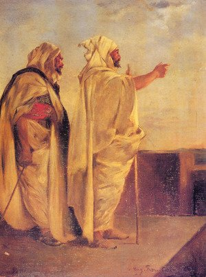 Eugene Fromentin - Two Arabs On A Terrace