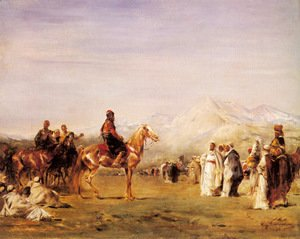 Eugene Fromentin - Arab Encampment In The Atlas Mountains